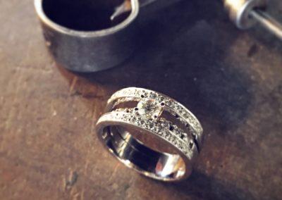 Solitaire diamants sur mesure Pauline de Baje