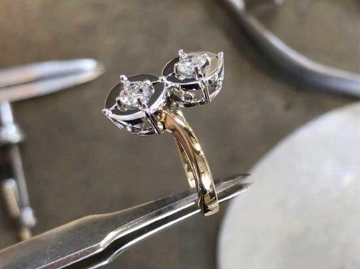 BAGUE TOI & MOI Or bicolore & Diamants